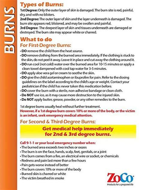 Burns Safety Poster for fridge/babysitter   Types of burns ...