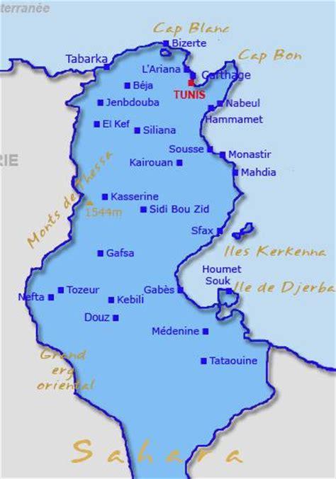 Distance Entre Hammamet Et Tunis by Carte De La Tunisie Carte G 233 Ographique Et Plan De La