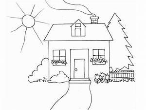 Dibujos Para Colorear Casas 7