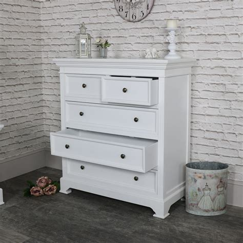 white chest of drawers white five drawer chest of drawers daventry white range