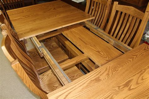 amish dining table with self storing leaves windsor ridge table amish traditions wv