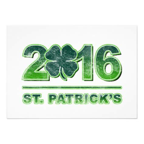 st pats day date st s day shamrock 2016 invitation zazzle