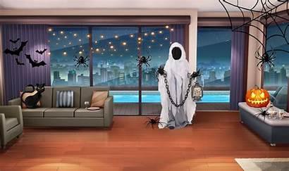 Interactive Episode Halloween Night Backgrounds Scenery Anime