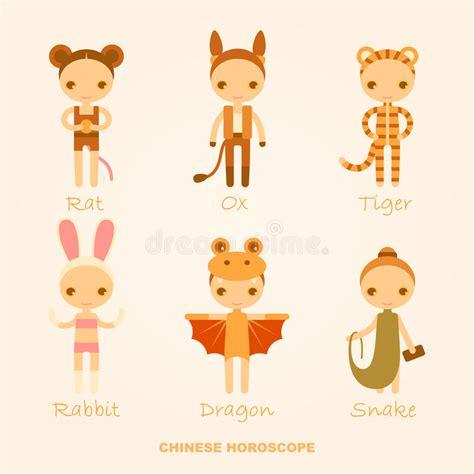 Vektorzeichen Des Chinesischen Horoskops Vektor Abbildung - Illustration von kostüm, bild: 56233465