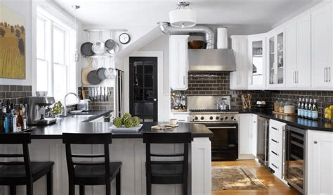 Kitchen Black White Kitchen Ideas Features Black Kitchen Kitchen Organizers For Cabinets Tv Under Cabinet Cheap Doors Where To Buy Design Pictures Dark Black Pulls Rustic Birch Photos