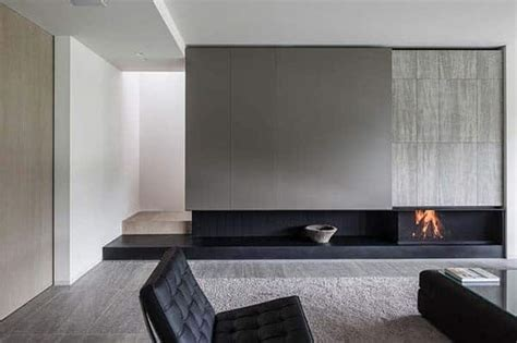 mesmerizing minimalist fireplace ideas   living room