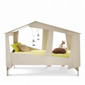 Lit Banquette Fille : cadre de lit cabane enfant en bois avec sommier drawer ~ Teatrodelosmanantiales.com Idées de Décoration