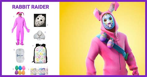 dress  rabbit raider  fortnite costume halloween