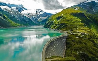 Austria Kaprun Dam Daily Mooserboden Reservoir Near