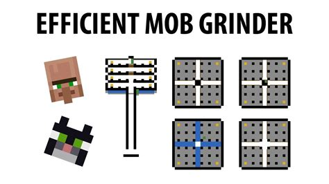mtandis highly efficient mob grinder tutorial  minecraft  youtube