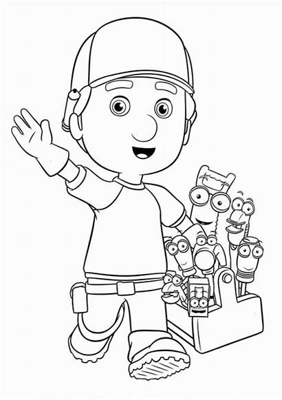 Coloring Pages Manny Handy Tools Cartoon Fun