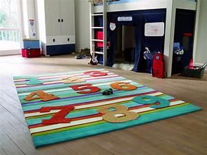 tapis ludique pour enfant bleu 123 par esprit home With tapis esprit enfant