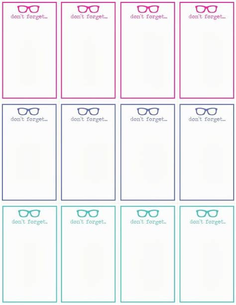 free note card template don t forget cards template reminders notes