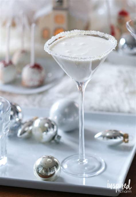 white christmas martini christmas vodka cocktails