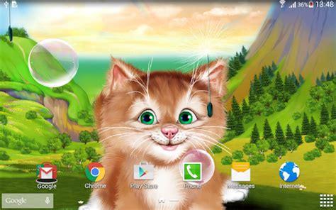 Animated Kitten Wallpaper - kitten live wallpaper apps on play