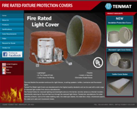 fire rated recessed light enclosure fire rated light com tenmat fire rated light protection