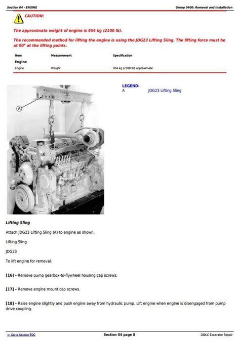 tm john deere lc excavator service repair manual deere technical manuals