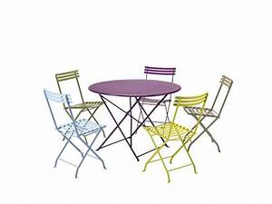 stunning table de jardin pliante rose gallery amazing With table jardin metal ronde pliante