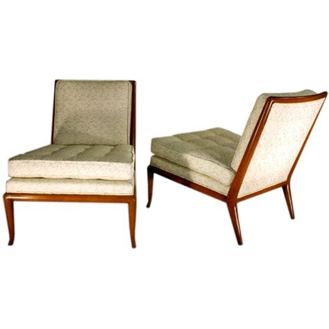 pair of slipper chairs by t h robsjohn gibbings at 1stdibs