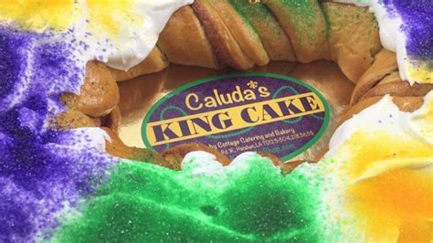 authentic  orleans king cake bakery caludas king cake