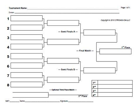 blank bracket sheets strongvon tournament management system