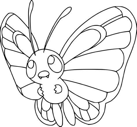Coloriage Papilusion Pokemon à Imprimer