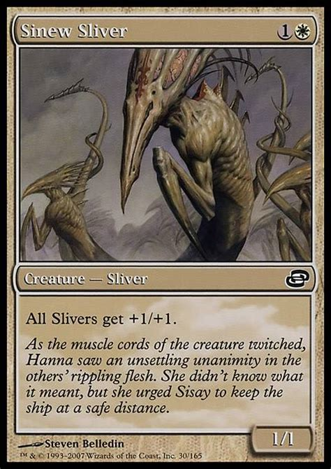 magic the gathering sliver deck ideas sinew sliver mtg card