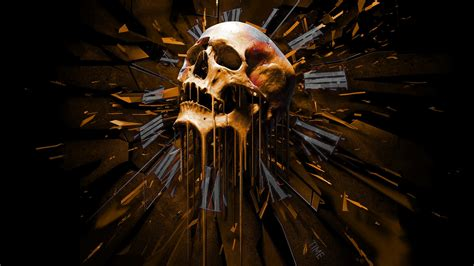 dark skull time art artistic death detail evil creepy