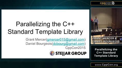 standard template library in c parallelizing the c standard template library cppcon 2015 channel 9
