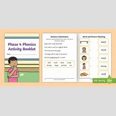 * New * Phase 4 Phonics Activity Booklet  Phase Four, Letters And Sounds