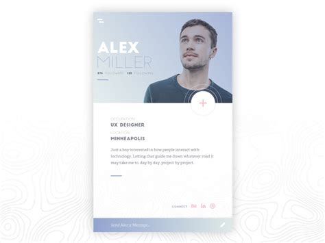 profile card  turner zajac  dribbble
