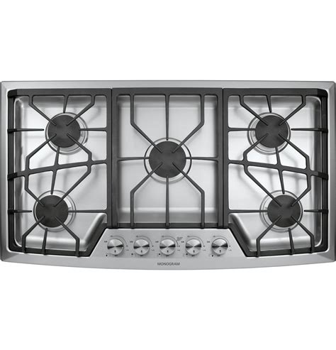 ge monogram  stainless steel gas cooktop liquid propane zgulsmss ge appliances