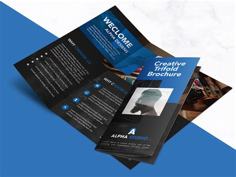 Adobe Photoshop Brochure Templates by Creative Agency Trifold Brochure Free Psd Template
