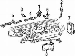 Cadillac Eldorado Instrument Panel Air Duct  1994