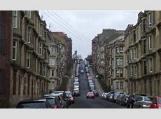Dumbarton Road, Partick, Glasgow from tenements to