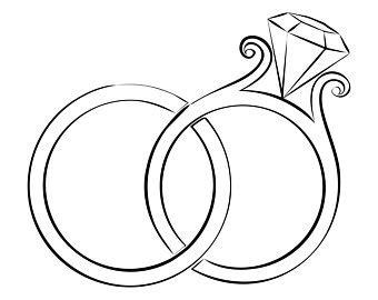 wedding ring clipart etsy