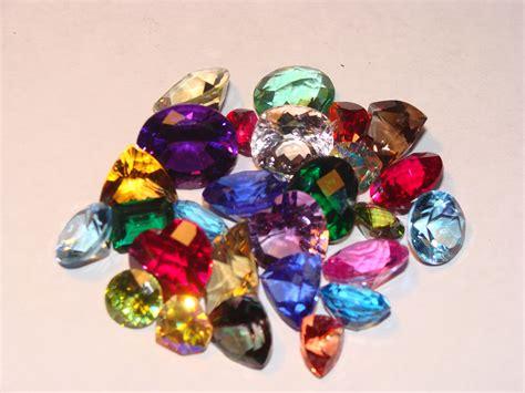 drawstring bag all gemstones faceted gemstones
