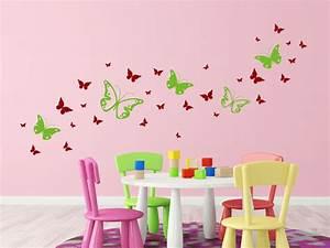 Wandtattoo Kinderzimmer Schmetterlinge : wandtattoo zweifarbige schmetterlinge von ~ Sanjose-hotels-ca.com Haus und Dekorationen