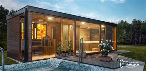 Sauna Whirlpool Gartenhaus by 1001 Ideen F 252 R Moderne Gartenh 228 User Zum Tr 228 Umen