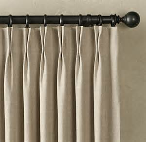 Pleated Curtains For Traverse Rods by Belgian Textured Linen Drapery