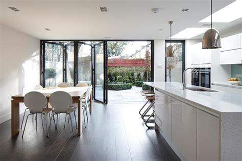 contemporary kitchen extensions kitchen diner with bi fold doors search home 2486