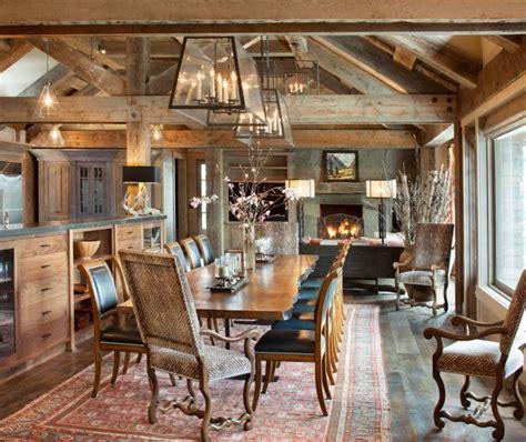 majestic rustic dining room designs