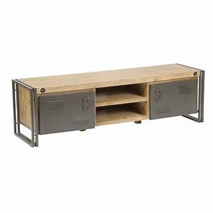 Brooklyn 65″ TV Stand in Distressed Solid Acacia Wood