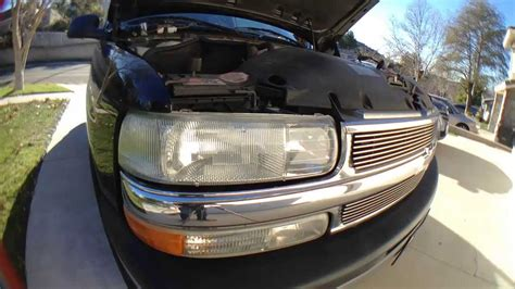 install replace headlight   chevy silverado