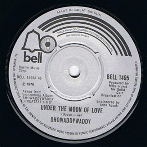 showaddywaddy under the moon of love 7 single vinyl record