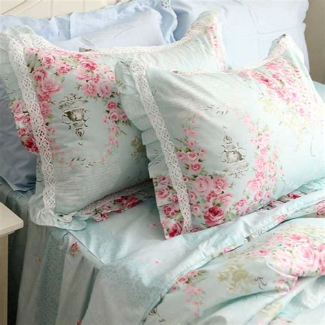 shabby chic bedding blue and pink blue rose bedding set