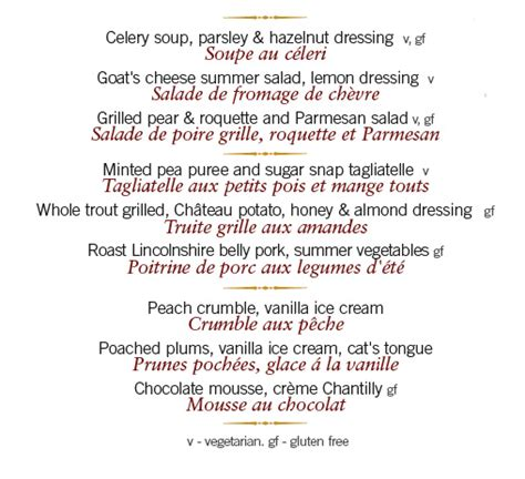 Traduction Carte Restaurant Italien by La Relecture Des Traductions Translations