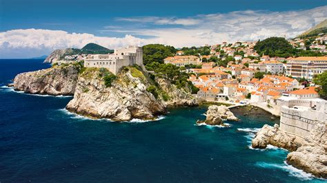 The Old City With Red Roofs At Adriatic Sea Dubrovnik