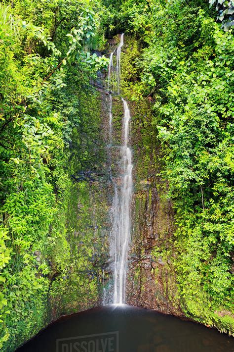 Take the worry out of driving the backside from hana with a. Beautiful waterfall along the road to hana;Maui, hawaii ...