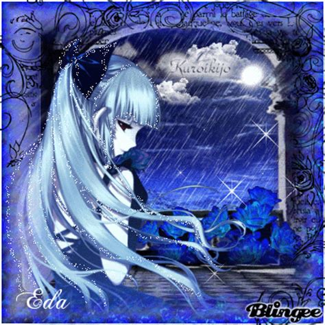 Anime At The Picture 118757582 Blingee Blue Anime Gt Eda S Blingee Picture 98552585